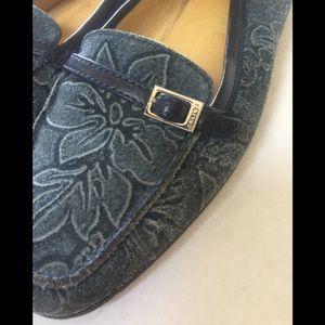 Floral Celine loafers
